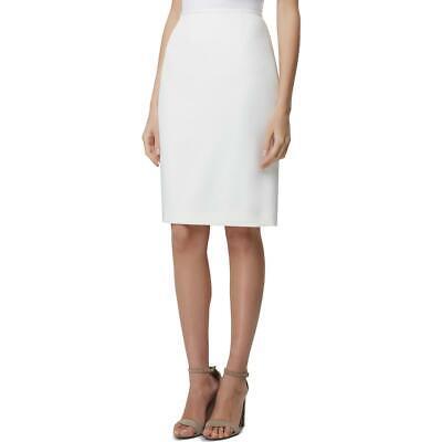 Tahari ASL Womens Ivory Textured Midi A-Line Pencil Skirt 8 BHFO 2582