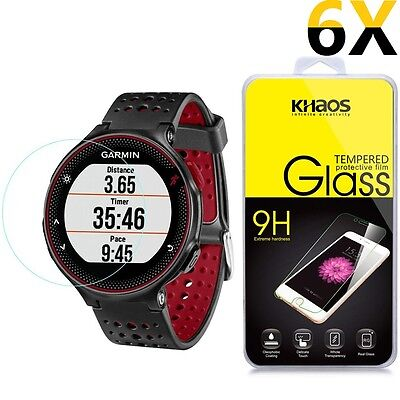 [6x] For Garmin Forerunner 225 220 230 235 HD Tempered Glass Screen Protector