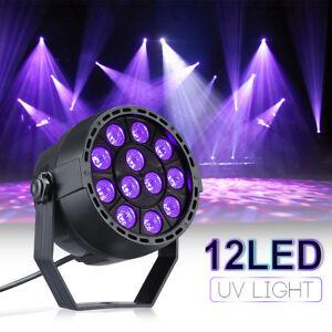 12 LED UV Black Light DMX Stage Lighting Disco Bar DJ Light Effect Spotlight UK