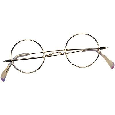 Round Wire Rim Glasses Adult Colonial Victorian Santa Claus Suit Costume