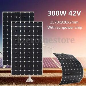 300W-42V-Flexible-Solar-Panel-Battery-Charger-w-1-5m-Cable-For-Boat-Caravan-Home