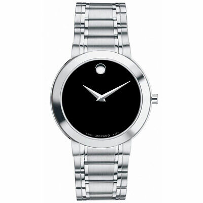Movado Men's Watch Stiri Quartz Black Dial Stainless Steel Bracelet 607277