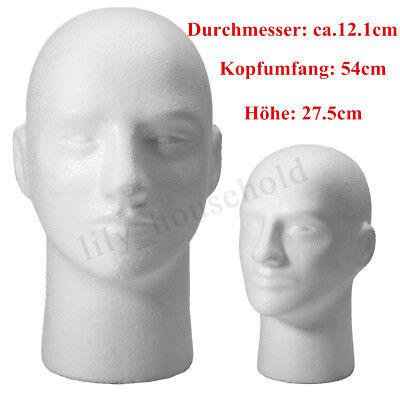 männlich Styroporkopf Dekokopf Schaumstoffkopf Modellkopf Perückenkopf kopf weiß Weiße Perücke Männlich