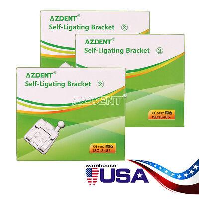 3packs Dental Orthodontic Self-ligating Slot Brackets Mini Roth.022 Hooks 3-4-5