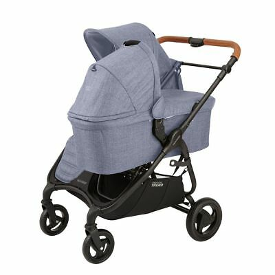 Used, Valco 2018 Snap DUO Trend Stroller in Denim With Bassinet!! Free Shipping! for sale  Towson