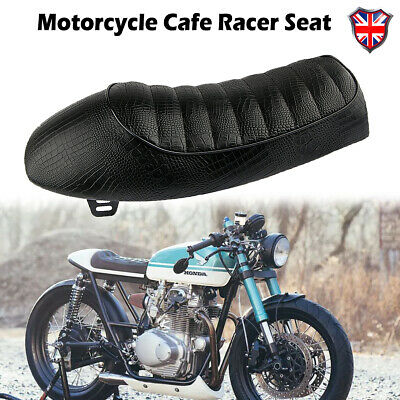 MOTORCYCLE CUSHION CAFE RACER SEAT FLAT BRAT HUMP SADDLE FOR SUZUKI GS