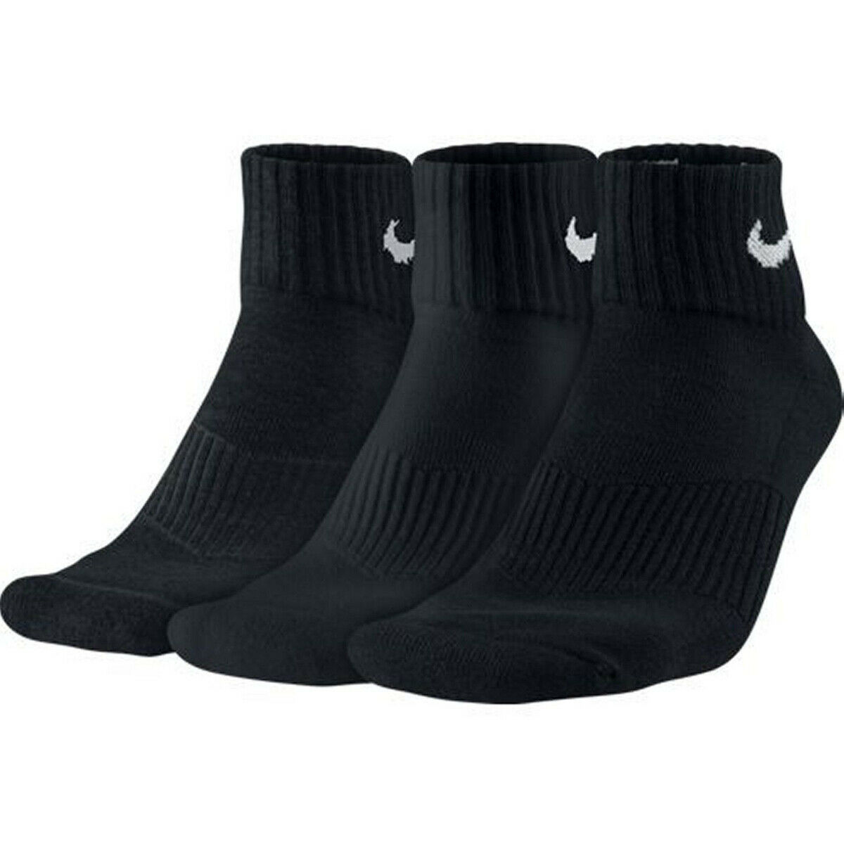 NIKE Herren Damen CUSHION QUARTER Sport Freizeit Socken Strümpfe 3er Pack SX7667