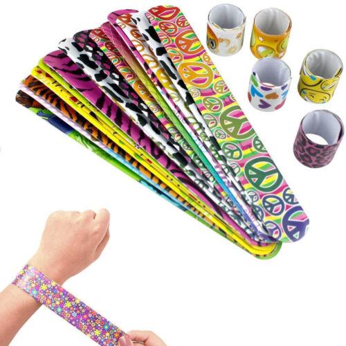 Scoolr 30pcs Slap Bands Bracelets Party Bag Fillers for Kids Snap Bands Favours
