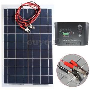 kit 30w 12v panneau solaire cellule regulateur de charge pour voiture bateau ebay. Black Bedroom Furniture Sets. Home Design Ideas