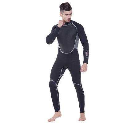 - 3MM Neoprene Wetsuit Men Full Body Scuba Diving Surfing Snorkeling Warm Swimsuit