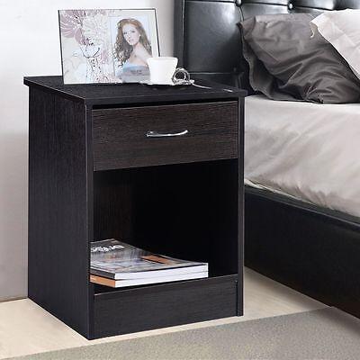 منضدة جانب السرير جديد Night Stand Bedroom Stand Bedside Furniture Drawer Sturdy Storage