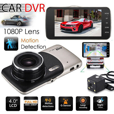 Dual Lens Camera Hd Car Dvr Dash Cam Video Recorder G Sensor Night Vision Us