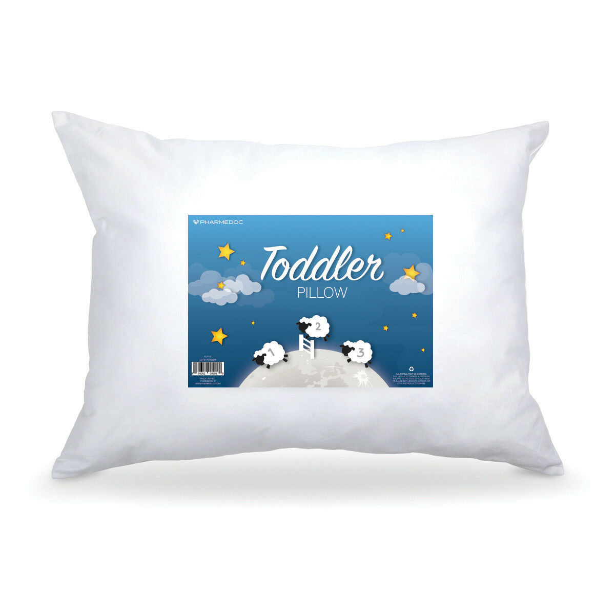 PharMeDoc Toddler Pillow - Little Pillow for Kids Ages 1-5 -