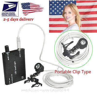 Flexible Clip-on Clamp Led Head Light Lamp For Dental Binocular Loupes Glasses