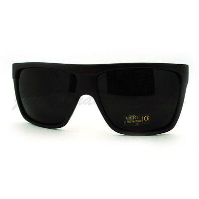 SUPER Dark Black Lens Sunglasses Flat Top Square Oversized