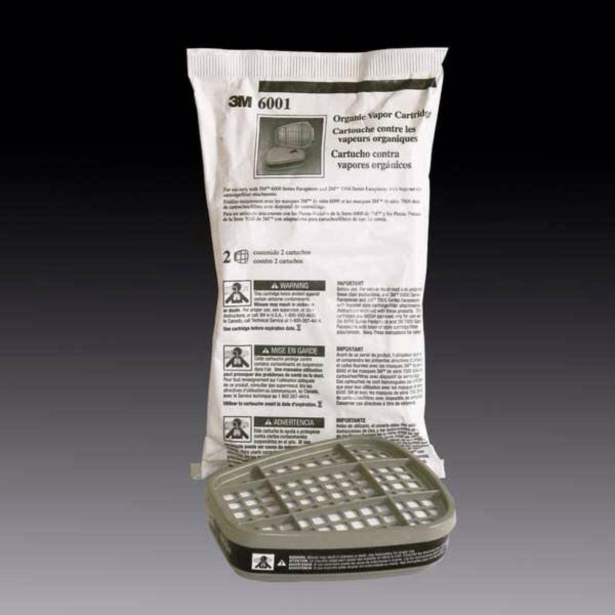 3M 6001 Organic Vapor Replacement Cartridge – Various Package Quantities Business & Industrial