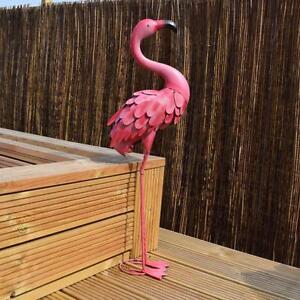 Rainforest Pink Detailed Metal Outdoor Garden Flamingo
