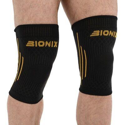 Compression Knee Support Elastic Brace Running Gym Injury Sprain Pain Relief X2