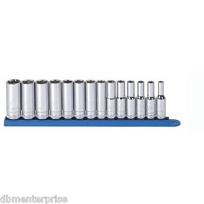 GearWrench 80554 14 Piece 3/8-Inch Drive 6 Point Deep Metric Socket Set KD Tools