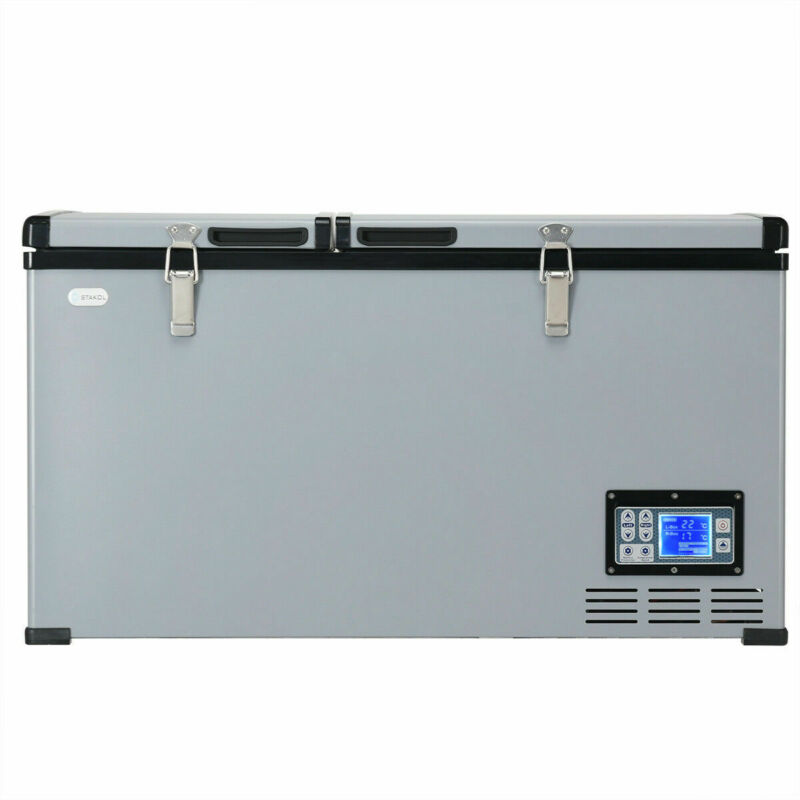 84 Quart Portable Electric Car Cooler Refrigerator / Freezer for Outdoor Camping