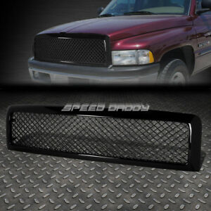 FOR 94-02 DODGE RAM BLACK ABS HONEYCOMB MESHED FRONT UPPER BUMPER GRILL GUARD