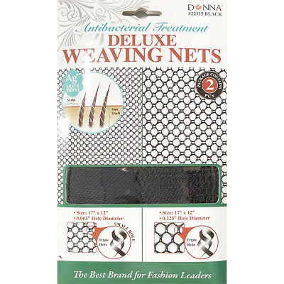 Donna Antibacterial Treatment Deluxe Weaving Nets 2Pcs  22315 Black