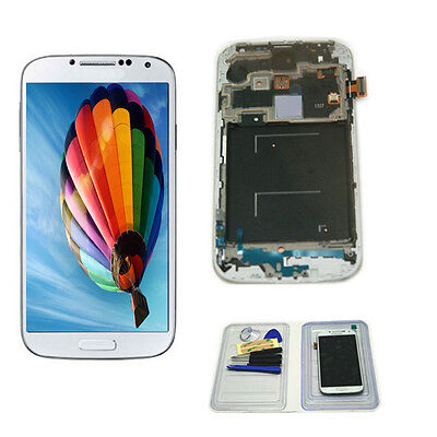 Samsung Galaxy S4 i337 M919 White LCD Touch Digitizer Screen + Frame Replacement on Rummage