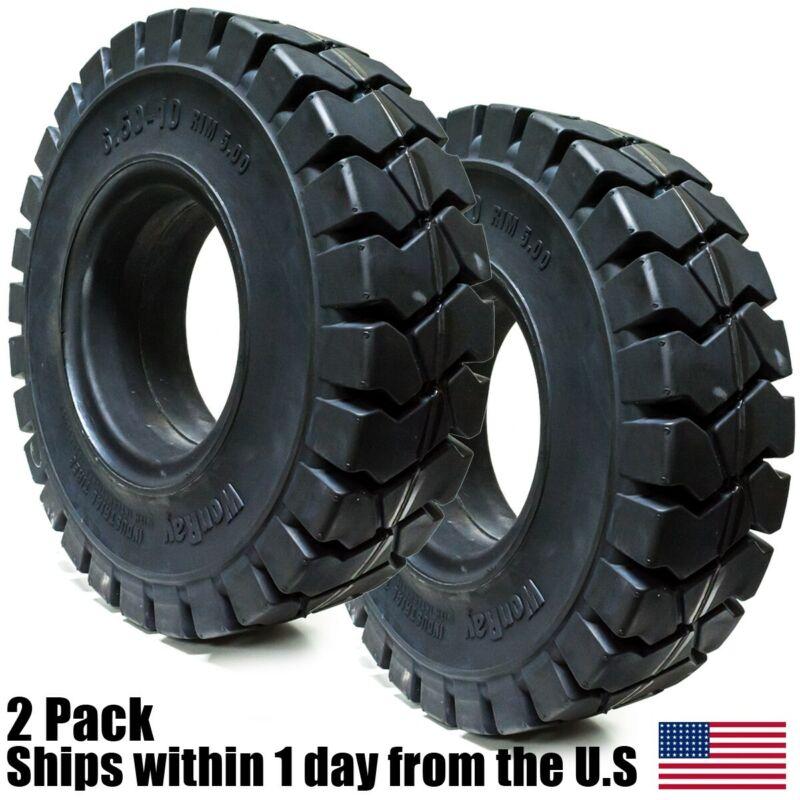 2pk 6.50-10 Forklift Solid Tire 6.50x10 650x10 65010 Lift Truck R701