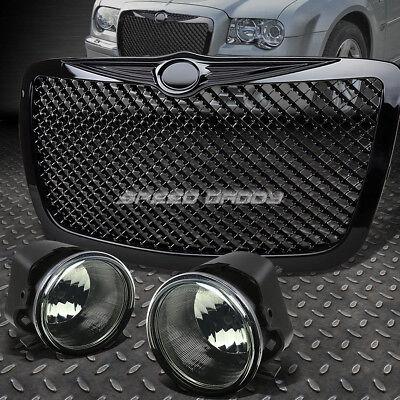 Fog Light Lens Guard (SMOKE LENS OE DRIVING FOG LIGHT+SWITCH+MESH GRILL GUARD FOR 06-10 CHRYSLER 300C )