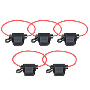 5-pack 12AWG ATC/ATO 30AMP Automotive Water-Resistant Inline Fuse Holder Blade