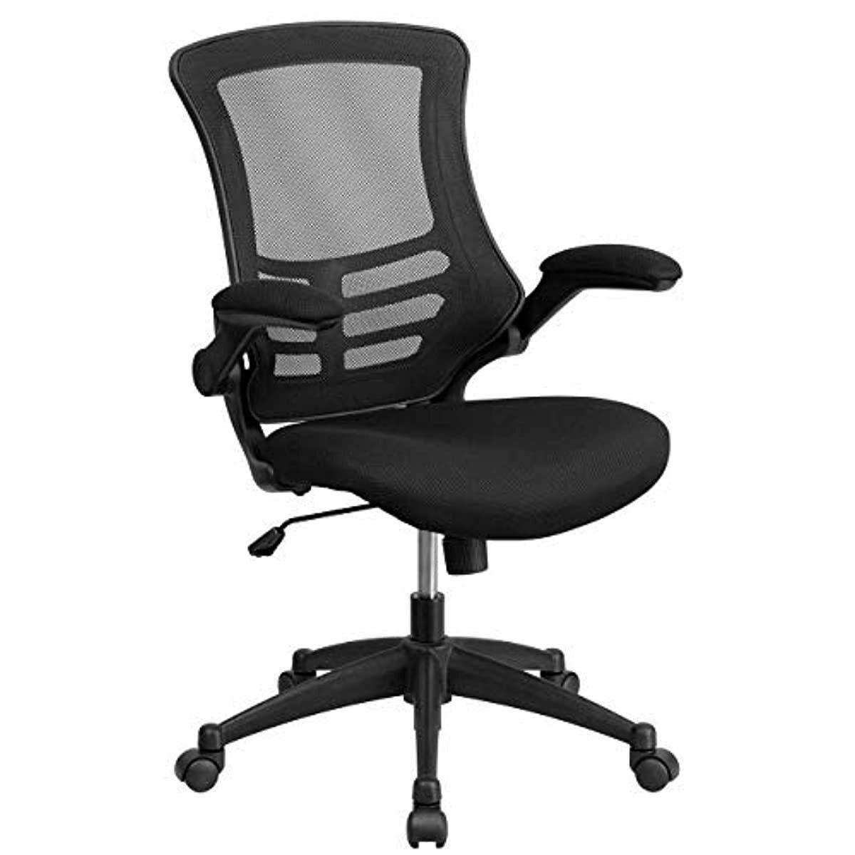 Flash Furniture Mid-Back Black Mesh Swivel Ergonomic Task Of