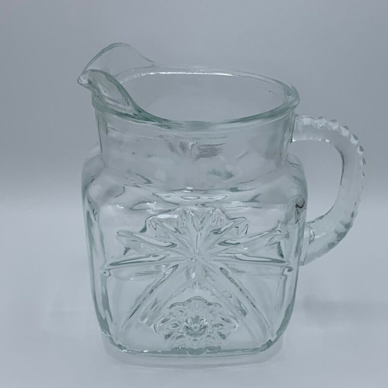 Vintage Early American Prescut by Anchor Hocking 40 Oz Square Pitcher