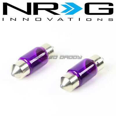 NRG 1 PAIR 31MM 3175 6428 BLUE INTERIOR DOME PANEL//LICENSE PLATE  LIGHT BULB
