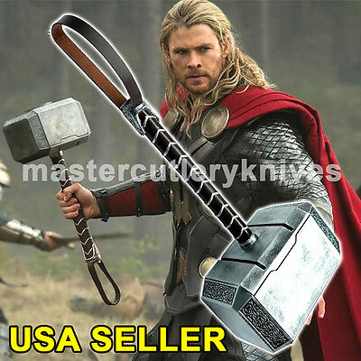 1:1 Scale Full Resin Avengers Thor Hammer 1:1 Replica Prop Mjolnir cosplay USA (Movie Props)