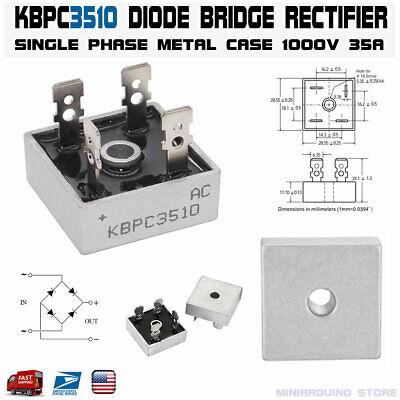 Kbpc3510 Diode Bridge Rectifier Single Phase Metal Case 1000v 35a Kbpc-3510 Usa