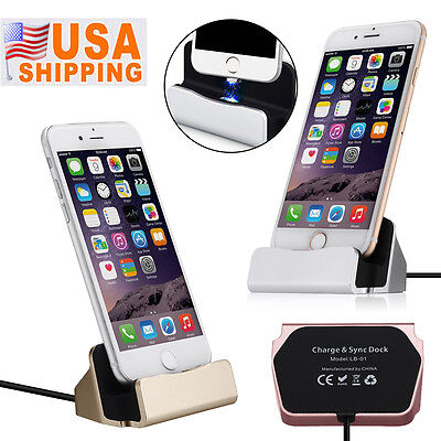 Iphone 5 Charger - Desktop Charging Dock Station Cradle Charger for Apple iPhone 5 6 6s 7 Plus New