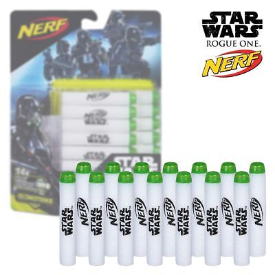 New Star Wars Glow In The Dark Soft Refill Darts 14 Pack Rogue One Nerf Official