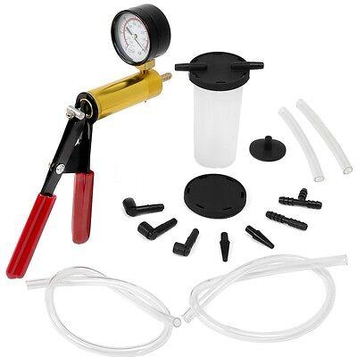 Hand Held Vacuum Pressure Pump Tester Set Brake Fluid Bleeder Bleeding Kit