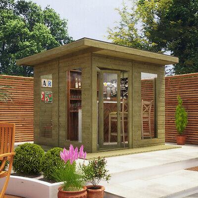 10x10 Garden Office Pent Contemporary Summerhouse Wooden Lounge Tongue & Groove