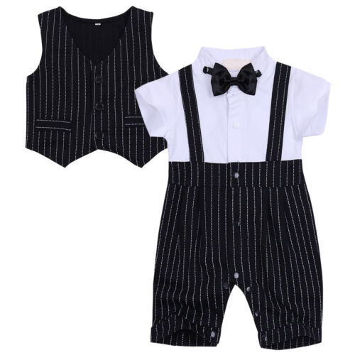 ed4b915e1c7 Baby Boys Gentleman Formal Suit Outfits Toddler Party Wedding ...
