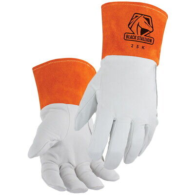Black Stallion Premium Kidskin Tig Welding Gloves With Dragpatch Medium 25k