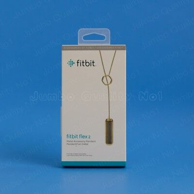 NEW Fitbit Gold Pendant Necklace For Flex 2 (Genuine Fashion Jewelry Accessory)
