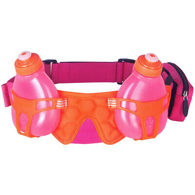 a522dd01a423 FuelBelt Helium H2O 2-Bottle Hydration Belt - Pomergranate Pink Orange Crush