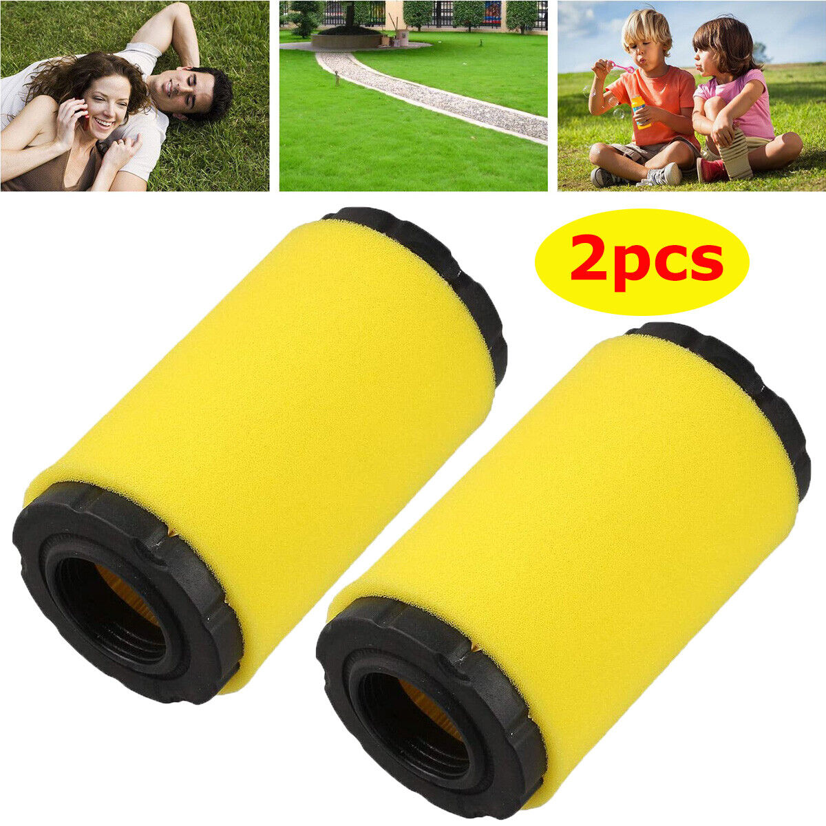 2x 793569 air filter for briggs
