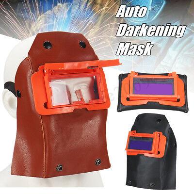 Solar Auto Darkening Welding Helmet Arc Tig Grinding Welder Mask W Flip Glasses