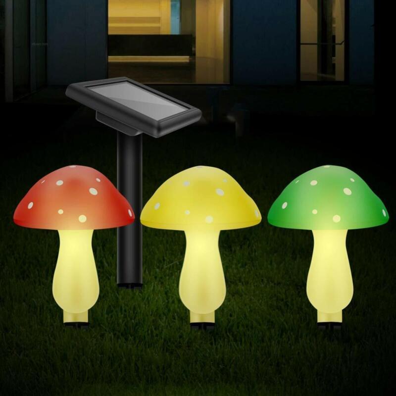 Mushroom LED Lights Outdoor Solar Powered Decorative Light G