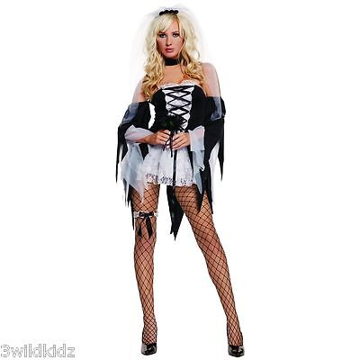 Diane Tawed Costume Adult Corpse Bride Halloween  - Size S-M  Halloween Costume  (Corpse Bride Costume Adult)