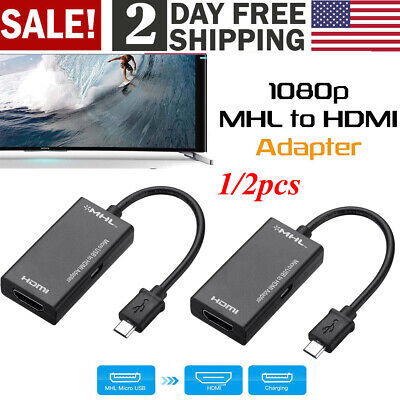Mhl Adapter Cable - MHL Micro USB Male to HDMI Female Adapter Cable for Android Cell Phone Tablet TV