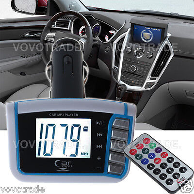 LCD Wireless FM Transmitter for phone Car MP3 Player SD TF Card USB Drive remote