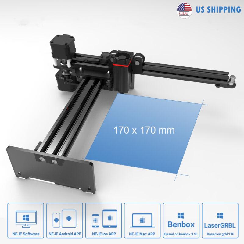 NEJE 7W CNC router Laser Engraver DIY carving engraving Machine Mark printer